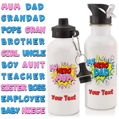 Personalised Water Bottle with My Hero Design - My Hero Dad