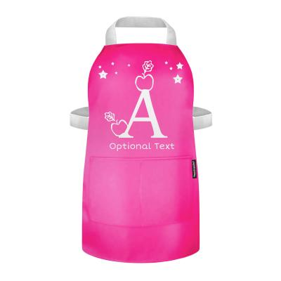 Toddler Apron with Alphabet Designs and Optional Personalised Text