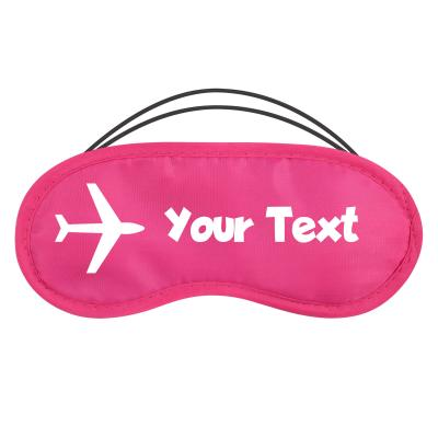 with Aeroplane Design - Fuchsia Pink Polyester (Personalised with Text)